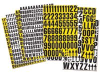 Magnetic Numbers for Racking - White or Yellow Background