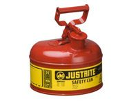 Justrite Metal Safety Can 3.8 litre cap. flammable liquid