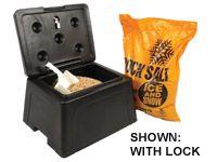Mini Grit/Salt Bin, 30 litres capacity c/w 10kg salt