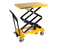 Mobile double lift scissor table 350kg capacity