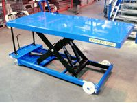 Mobile Single Scissor Lift Tables 150 to 1250kg - Electric
