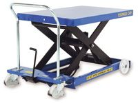 Mobile Single Scissor Lift Tables 150 to 1250kg - Manual