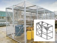 Modular High Security Galvanised Cages - 1260mm Depth