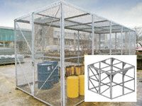 Modular High Security Galvanised Cages - 2480mm Depth