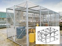 Modular High Security Galvanised Cages - 3700mm Depth