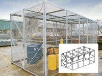 Modular High Security Galvanised Cages - 4920mm Depth