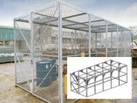 Modular High Security Galvanised Cages - 6140mm Depth