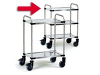 Modular Stainless Steel Trolley 3 tray, 150kg