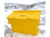 Nestable Grit/Salt bin, 350L capacity c/w 350kgs salt