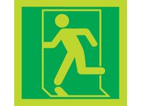 Nite-Glo Running Man Left Signs - 150 x 150mm
