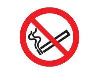 No Smoking Symbol Safety Signs - 100 x 100mm