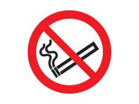 No smoking symbol sign (self adhesive)