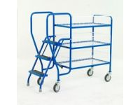 Order Picking Trolley with 2 steel trays