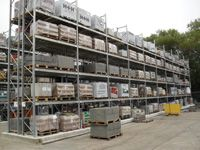 Pallet Racking with Galvanised Frames - Various Sizes