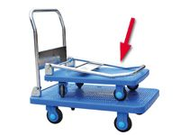 Plastic based Trolley, with folding handle,150kg