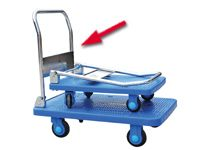 Plastic based Trolley, with folding handle, 300kg