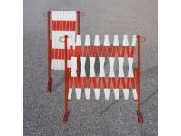 Expanding barrier, red / white 3600mm