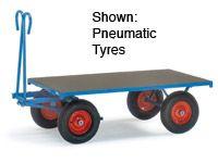 Fetra Platform hand Truck 1600x900, rubber tyres