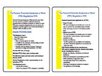 Pocket guide: Personal Protective Equipment regs