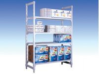 Polypropylene Starter Bays - 500mm D, 4 Solid Shelves