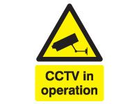 Rigid plastic sign 400x300 CCTV in operation