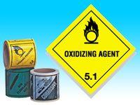 Roll of hazard diamonds - Oxidising Agent