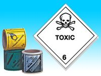 Roll of hazard diamonds - Toxic
