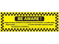 Self adhesive sign 150x300 Be aware!