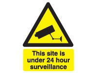 Self adhesive sign 400x300 24 hour surveillance