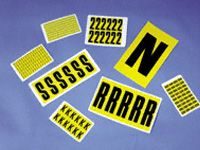 Self Adhesive Vinyl Identification Labels - 10 Cards (numbers 0-9)
