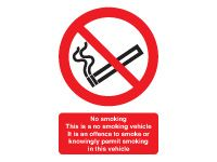Self adhesive vinyl sign 100x75 No smoking. This