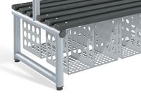 Single Sided Bench Under Seat Shoe Baskets