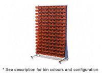 Single Sided Louvre Panel Kits Complete With Size 4 Bins
