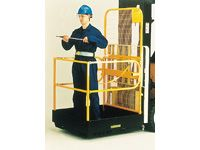 Small folding forklift access platform