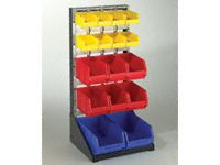 Small freestanding louvre panel / plastic bin kit
