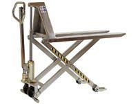 Stainless Steel Manual High Lift Pallet Trucks 1,000kg