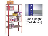 Standard Duty Just Shelving Bays - 1980 x 900 x 450mm, 5 Shelves