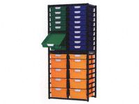 Standard Width Tray Double Shelving System 1910mm H