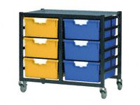 Standard Width Tray Double Shelving System 740mm H