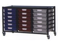 Standard Width Tray Triple Shelving System 740mm H