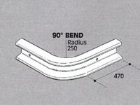 Std duty Safety Barrier, 90 degree bend