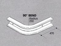 Std duty Safety Barrier, 90 degree bend