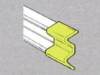 Std duty Safety Barrier Plastic End Cap