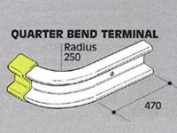 Std duty Safety Barrier Quarter Bend Terminal