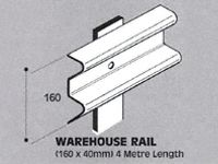 Std duty Safety Barrier Rail, 4m length