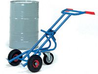 Fetra Steel Drum Trolley, pneumatic tyres & castor wheel