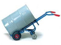 Fetra Steel Drum Trolley, rubber tyres & 2 castor wheels
