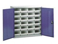 Steel storage cabinet, model 2 with white bins