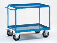 Fetra Steel workshop cart 1000x700, 2 trays