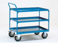 Fetra Steel workshop cart 850x500mm, 3 trays